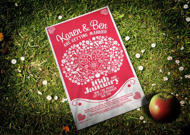 Apple Tree Wedding Tea Towel
