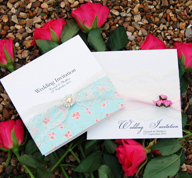 Summer Florals wedding invitation