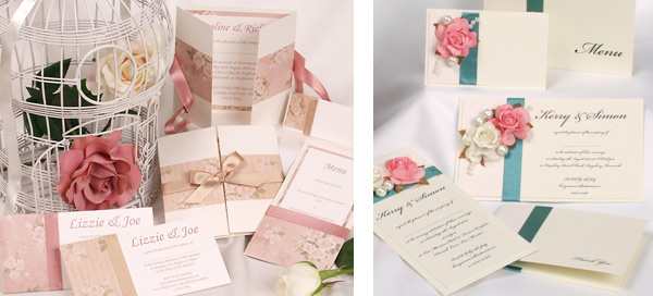 Romantic Wedding Invitations for Valentines Day Wedding