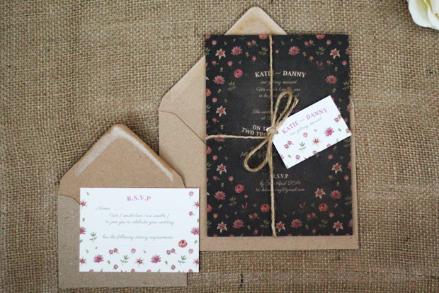 Rustic country garden invitation