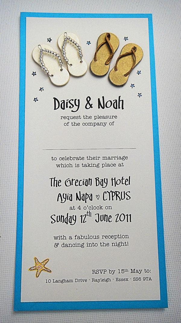 Wedding Gift Ideas Overseas : Overseas Beach Wedding Invitation: Design of the Day Wedding ...