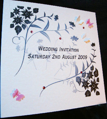 Butterfly Wedding Invitation by Kizzy Kat Cards