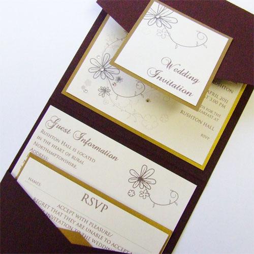 Pocketfold Wedding Invitation by Wedding Paraphernalia