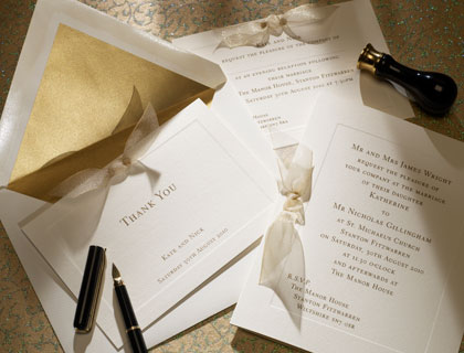 Letterpress wedding invitation  - Ottoman