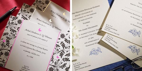 Letterpress spring wedding invitations