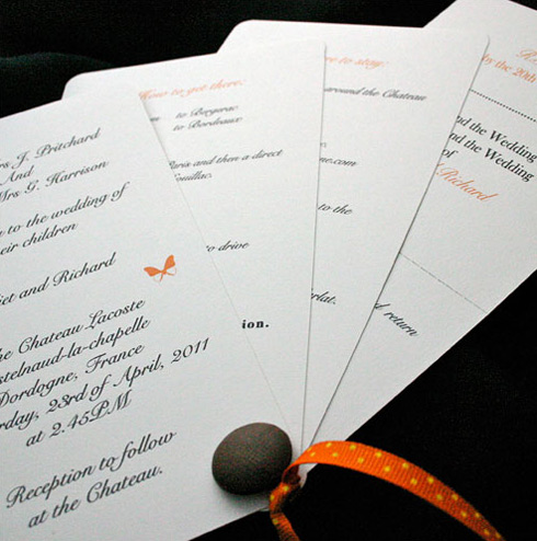 Information Cards  Wedding Invitations on Wedding Invitation Design  Including All 4 Information Cards