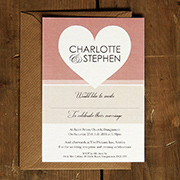 Heart Wedding Invitations