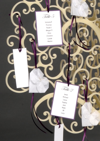 Wish tree and table plan by Paperbird Design