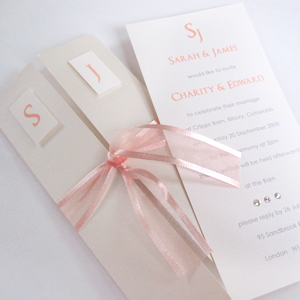 Little Angel pink wedding invitations