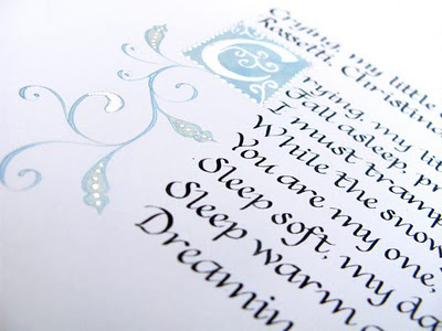 Wedding calligraphy poem Calligraphy commission of a poem by Christina
