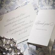 Calligraphy Letterpress Invitation