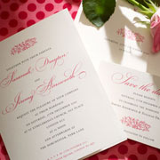 Electra Letterpress Wedding Invitation