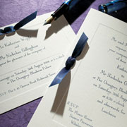 Imperial ribbon invitation