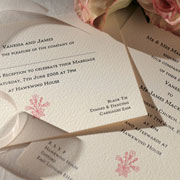Motif Letterpress Invitation