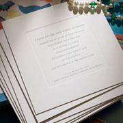 New Bond St embossed Wedding Invitation