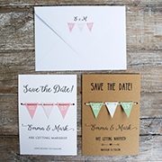 Handmade Bunting Save the Date card