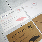Destination Beach Save the Date card