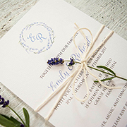 'French Lavender' rustic invitation