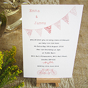 Summer bunting rustic country chic