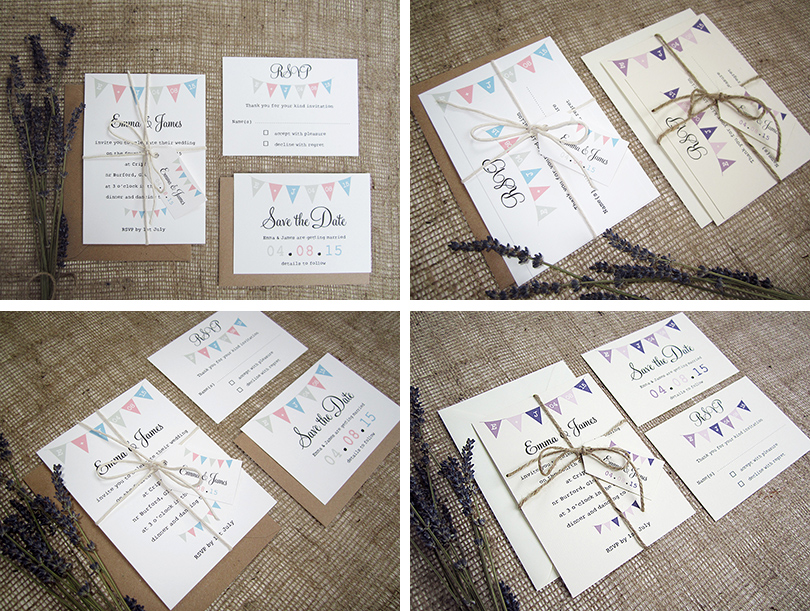 Village Fete\', rustic, bunting wedding invitation